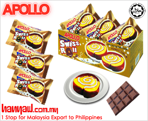 Apollo Chocolate Swissroll 5060